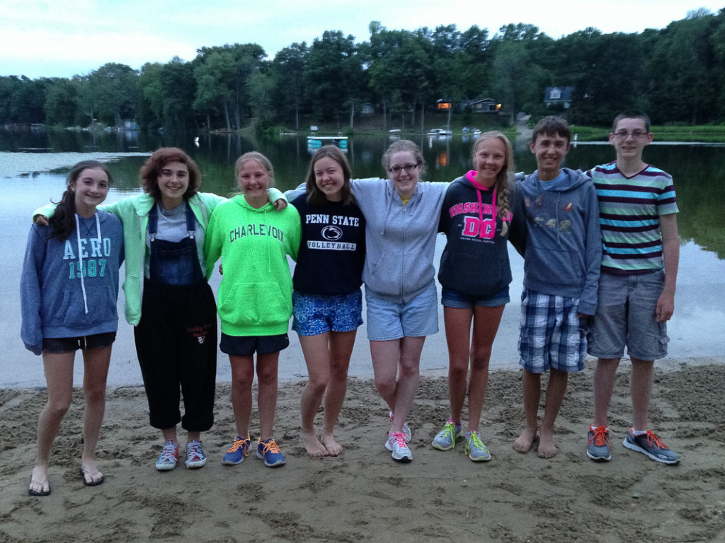 Nardin Park Youth youth at Meyer's Lake Campground